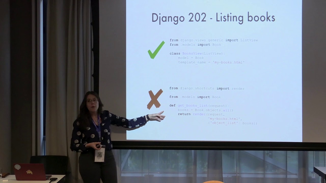 Image from PyCon Ireland 2019 - What's beyond Django Girls tutorial - Leticia Portella