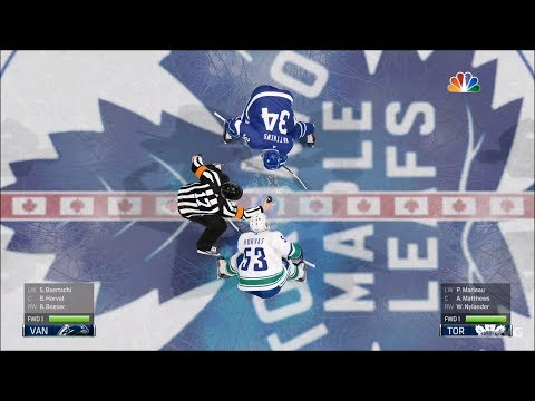 NHL 19 - Toronto Maple Leafs vs Vancouver Canucks - Gameplay (HD) [1080p60FPS]