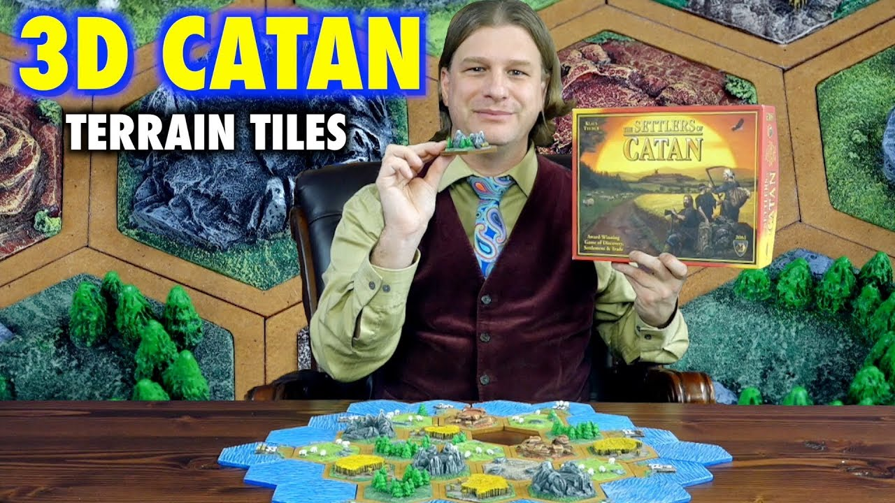 A Review Of 3d Settlers Of Catan Terrain Game Tiles By Leifkicker Youtube