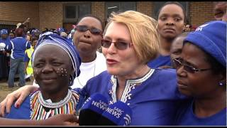 Helen Zille took her election campaign to the E Cape on Tuesday