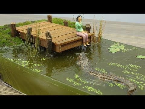 How to Make The Swamp || Crocodile Diorama || Resin Art