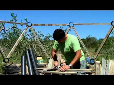 Construcci n de domo geodesico parte youtube - Construccion casas de madera ...