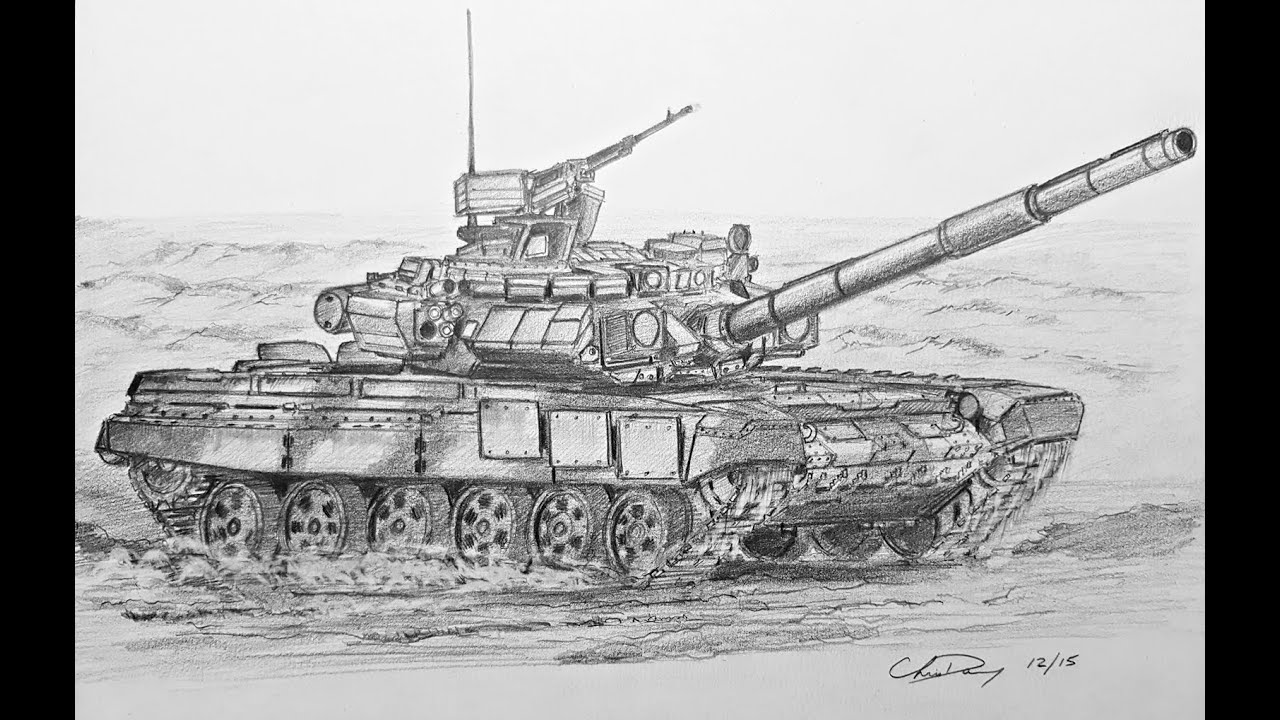 Uncategorized How To Draw Tank how to draw a russian t 90 tank youtube tank