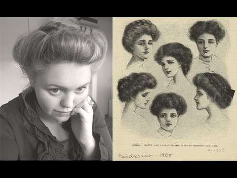 edwardian era ca. 1900 hair updo