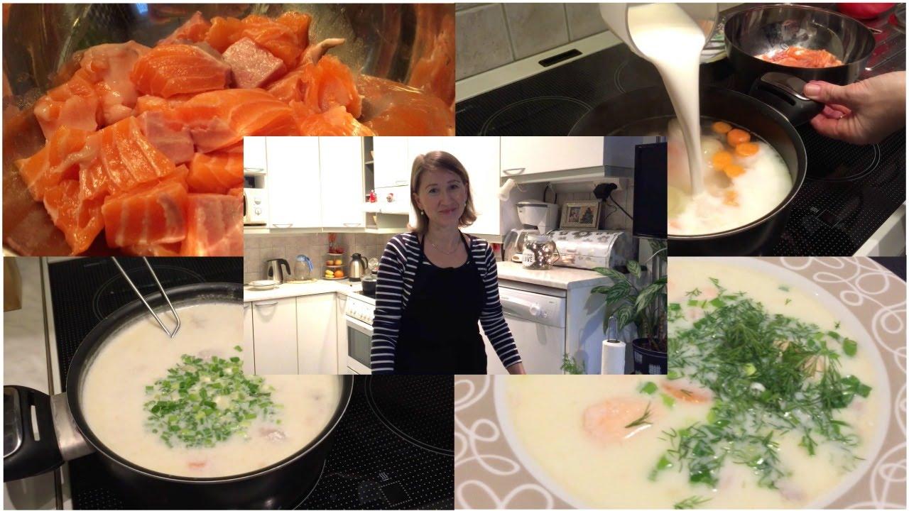 Традиционный финский суп с лососем