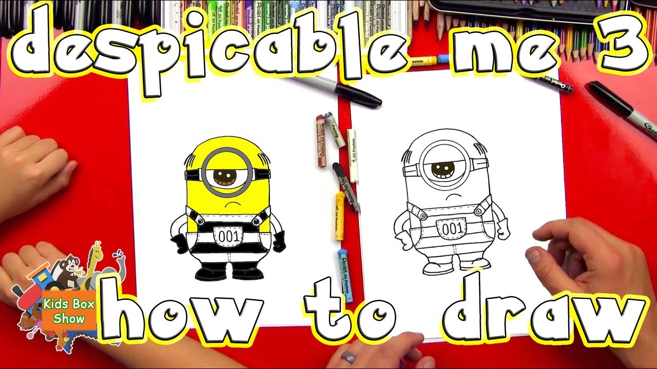 Show me how to draw a minion - How To Draw Minion Easy For Kids Despicable Me 3