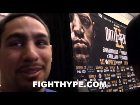 """DANNY GARCIA ON CONVERSATION WITH FLOYD MAYWEATHER IN MIAMI: """"WE TALKED FOR A LITTLE BIT"""""""