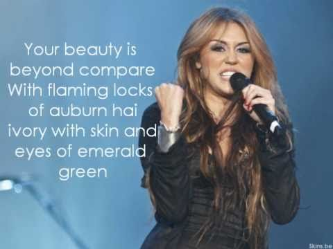 Miley Cyrus feat.Dolly Parton - Jolene (lyrics)