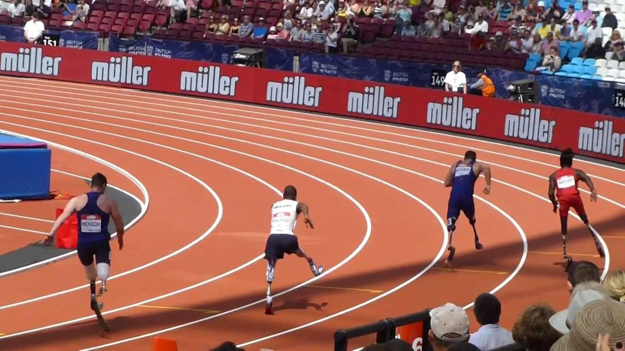 London anniversary games 2016 richard whitehead 200 metres win