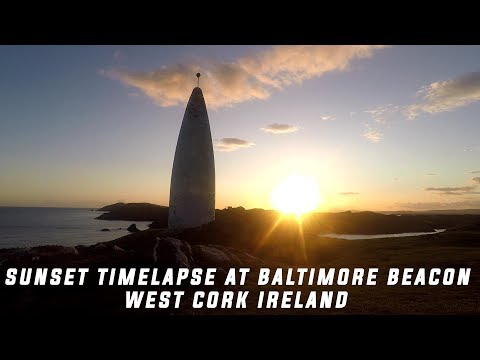 Sunset Timelapse at Baltimore Beacon Skibbereen West Cork Ireland Wild Atlantic Way