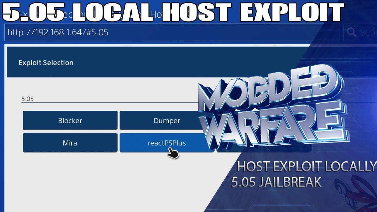 Hosting PS4 5 05 Exploit Locally + Adding custom payloads (5 05 Jailbreak)