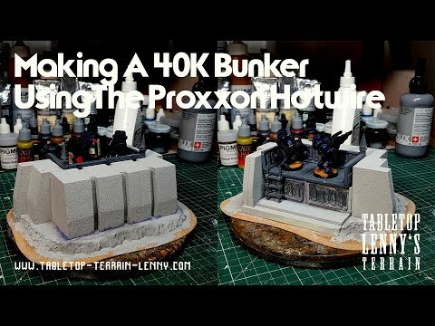 Terrain Tutorial: Making A 40K Bunker Using The Proxxon Hotwire