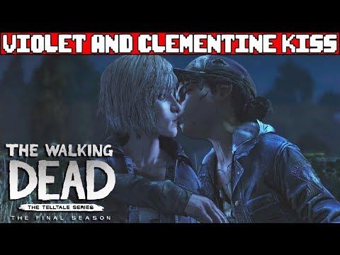 Violet Kisses Clementine - THE WALKING DEAD SEASON 4 Episode 2