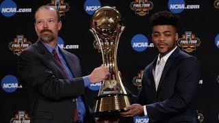 Mason accepts AP Player of the Year award // Kansas Basketball // 3.30.17