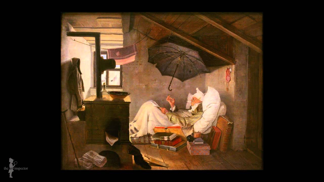 carl spitzweg der arme poet youtube. Black Bedroom Furniture Sets. Home Design Ideas