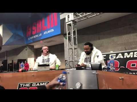 92.9 The Game Dukes & Bell On Super Bowl Radio Row SBLIII