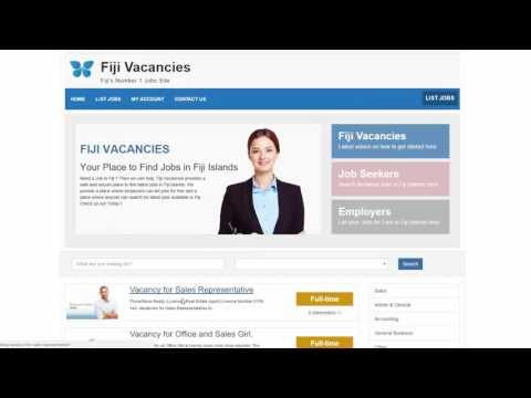 How to upload your CV to Fiji Vacancies