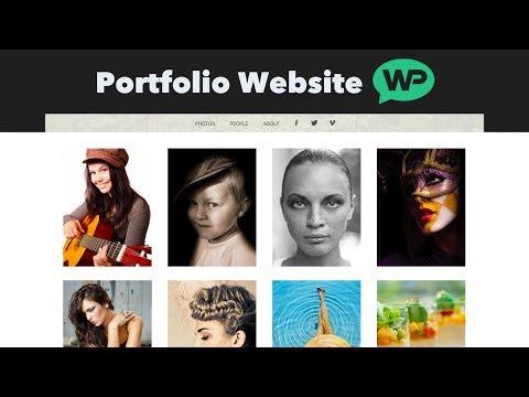 How To Make A Portfolio Website using WordPress (Photography Portfolio)