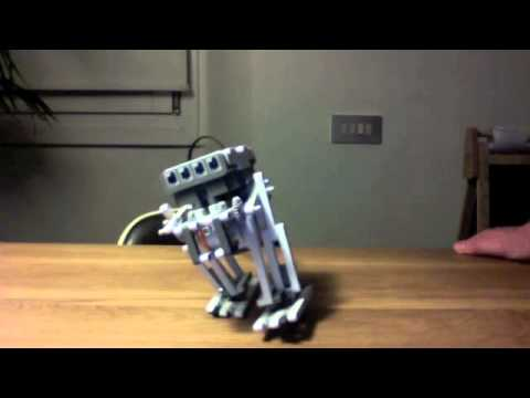 how to make a walking robot with one motor