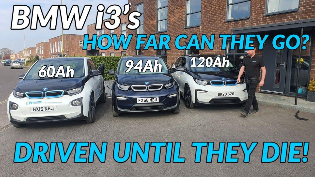 Download BMW i3 60Ah REX v 94Ah v 120Ah maximum range test. Driven until they die convoy comparison...