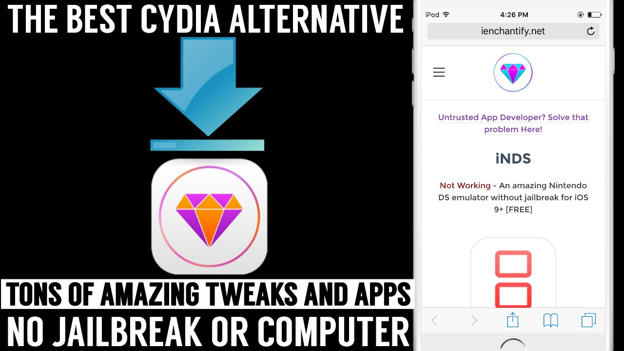 Cydia alternative no jailbreak ios 9