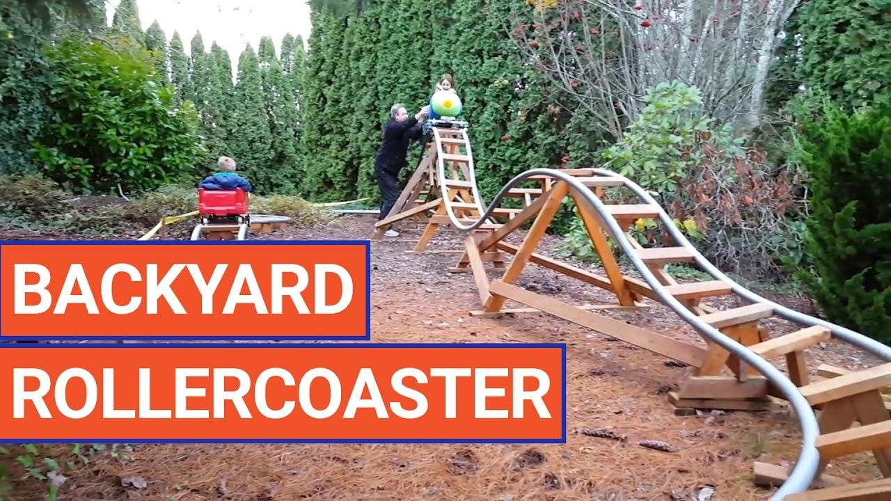 amazing diy backyard rollercoaster video 2016 daily heart beat