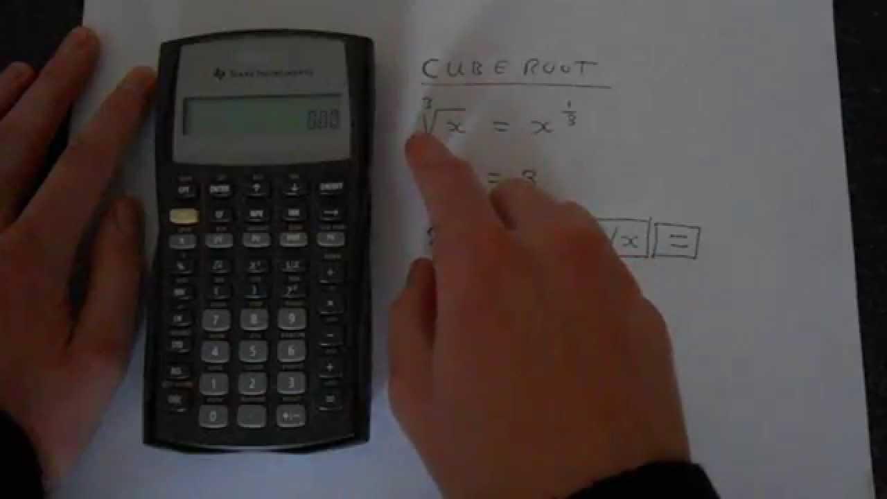 TI BA II Plus Cube Root