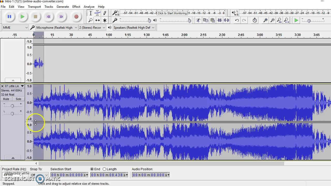 How to Move Audio in Audacity