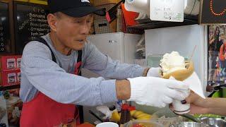 Корейские знаменитые блинчики-дедушки (клубничный банановый черничный ) - корейская уличная еда