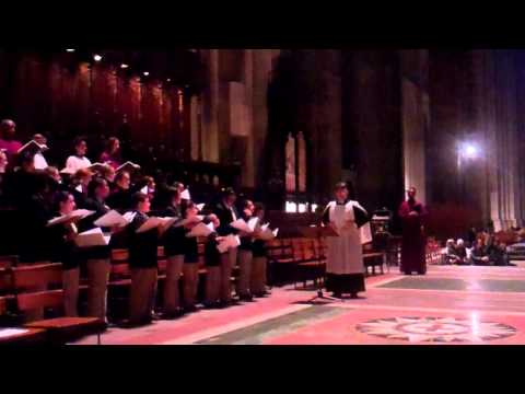 Rehearsal for Choral Evensong, Cathedral of Saint John the Divine, NYC, 2/24/13