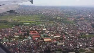 Philippine Airlines, Airbus A320, final approach and landing in Manila NAIA