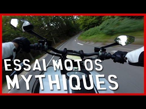 Essai motos mythiques : Ducati Diavel, Yamaha 500 RDLC, Honda CB750... (English Subtitles)