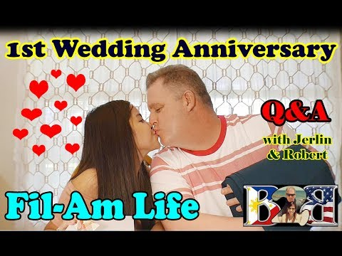 Filipina-American Couple | FIRST WEDDING ANNIVERSARY and Q&A |  Vlog#23