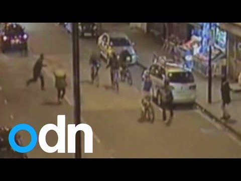 CCTV shows moment 15-year-old is fatally stabbed on busy London street