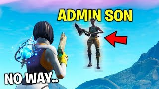 I found a Fortnite ADMIN's SON.. His Secret will blow you away..