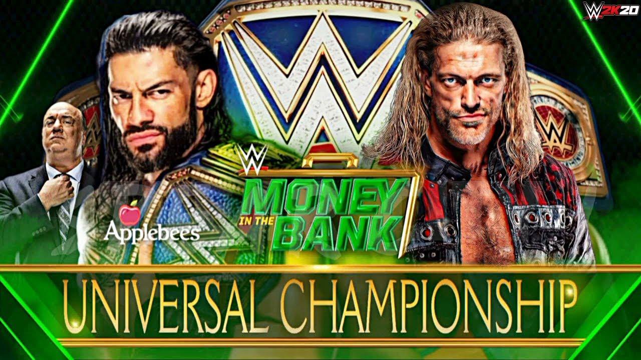 WWE Money In The Bank 2021 - Roman Reigns vs Edge   Universal Title Match - WWE 2K20