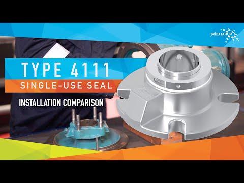 T4111 Single Use Elastomer Bellows Cartridge Seal Installation Speed Comparison