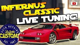 GTA 5 Online - 🔥🛠Pegassi Infernus CLASSIC Live Tuning!🛠🔥[Lambo Diablo, LS Customs, PS4 Gameplay]