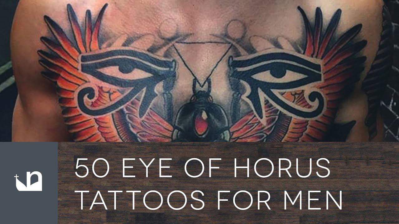 50 Eye Of Horus Tattoos For Men - YouTube