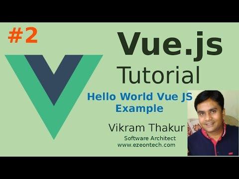 Vue JS Hello World  | VueJS Installation for Development Purpose | Steps to Integrate VueJS thumbnail