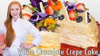 White Chocolate Mousse Crepe Cake