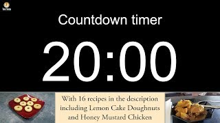 20 minute Countdown timer with alarm (including 16 recipes)