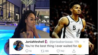"JANIAMESHELL MAKES IT OFFICAIL WITH NBA PLAYER DEJOUNTE MURRAY👩‍❤️‍👨AFTER REMOVING THE ""TATTOO""👀"
