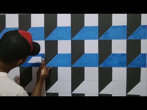 Gambar 3d Di Tembok Motif Cat Dinding Ruang Tamu Cat Kamar Tidur Kreatif 3d Youtube