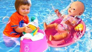Бьянка и Беби Бон в бассейне. Игры для детей с Машей Капуки Кануки. Привет, Бьянка!