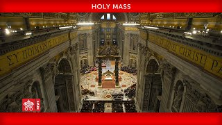 29 November 2020, Holy Mass, Pope Francis