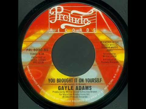 Gayle Adams-You Brought It On Yourself. (PRL 8020)