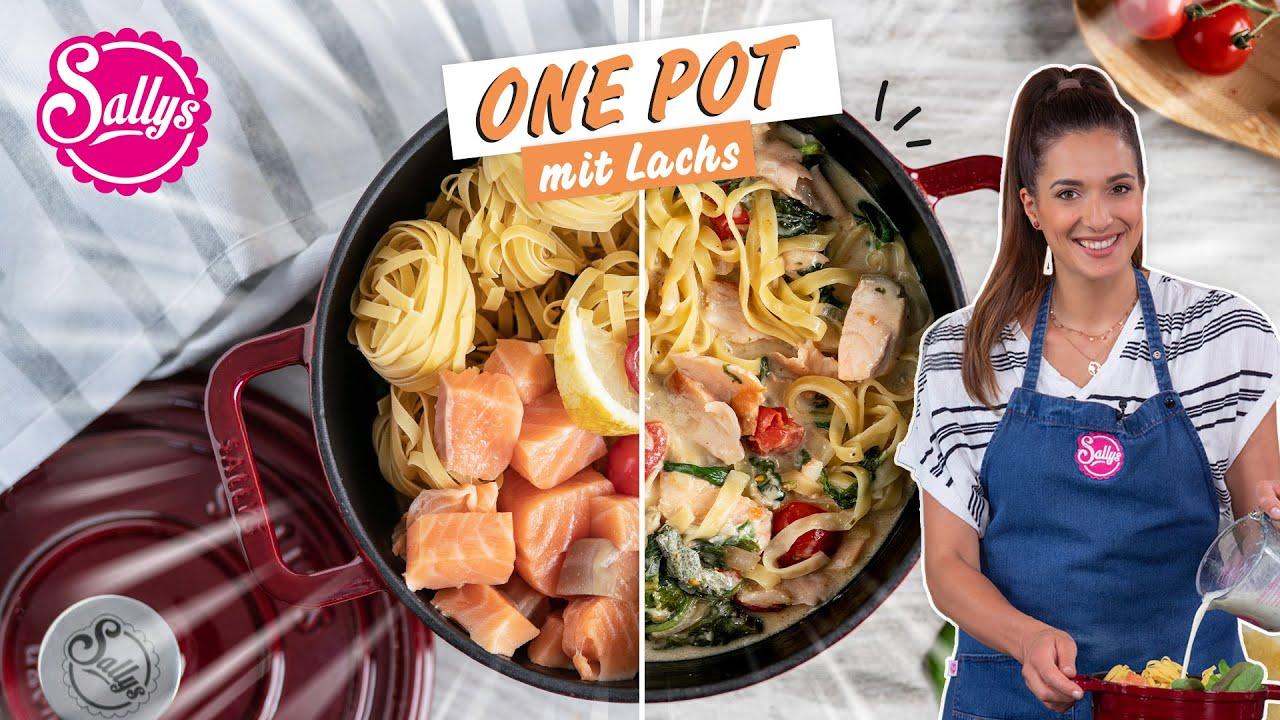 One Pot Lachsnudeln mit Spinat / Sallys Welt