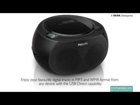 Philips AZ380 CD Soundmachine (Black)