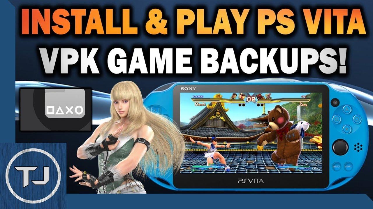 PS Vita Install & Play VPK Game Backups On 3 65/3 68 (VitaShell)
